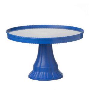 """סטנד פלסטי לעוגה ק.32.5 ג.19 ס""""מ-כחול כהה"""