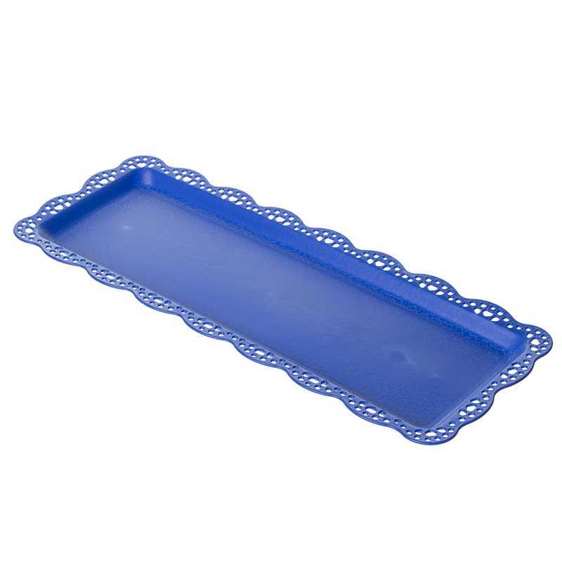 """מגש פלסטי אינגליש קייק א.38 ר.15 ס""""מ- כחול כהה"""