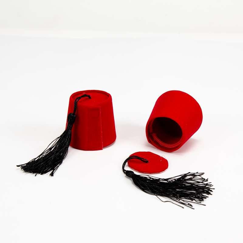 """חבילת 6 קפ' תרבוש מיני ק.5 ג.4.5 ס""""מ-אדום"""
