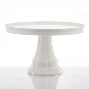 """סטנד פלסטי לעוגה ק.32.5 ג.19 ס""""מ-לבן"""