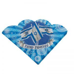חבילת 20 מפיות נייר-צורת פרח 33/33 2/ש-דגל ישראל