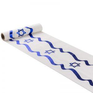 """גליל כותנה 28 ס""""מ 3 יארד-דגל ישראל מתנפנף"""