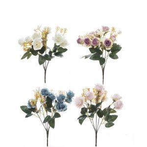 זר ורד פתוח מיני 5X- מעורב 4 צבעים