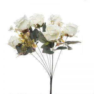 זר ורד פתוח תוספות 9X -קרם