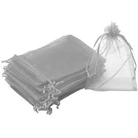"""חבילת 10 יחידות שקית אורג' 8/10 ס""""מ-כסף/אפור"""