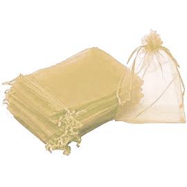 """חבילת 10 יחידות שקית אורג' 13/16 ס""""מ-קרם"""