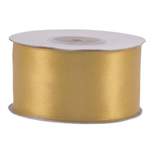 """סרט סאטן 3.80 ס""""מ 25Y - זהב בהיר"""