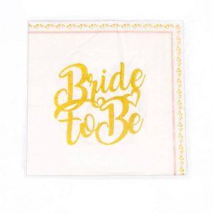 חבילת 20 מפיות נייר 33/33 (2/ש)-Bride to Be
